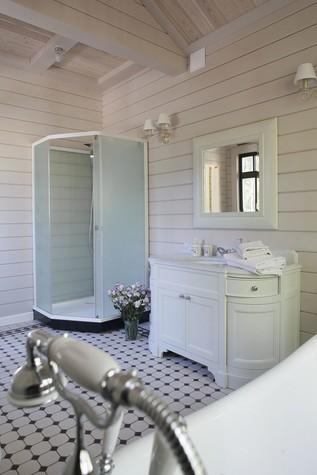 Загородный дом. ванная из проекта Дом из клееного бруса в стиле прованс, фото №80969