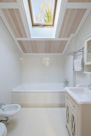 Загородный дом. ванная из проекта Дом из клееного бруса в стиле прованс, фото №80970