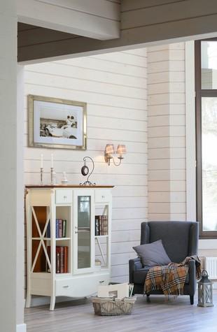 Загородный дом. столовая из проекта Дом из клееного бруса в стиле прованс, фото №80956