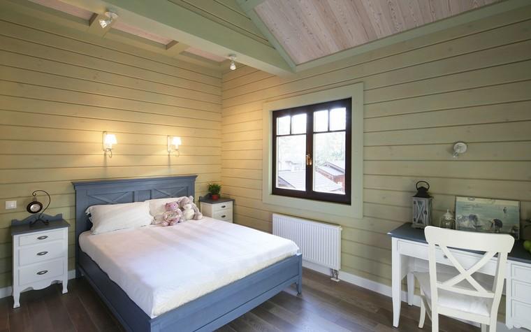 Загородный дом. спальня из проекта Дом из клееного бруса в стиле прованс, фото №80976