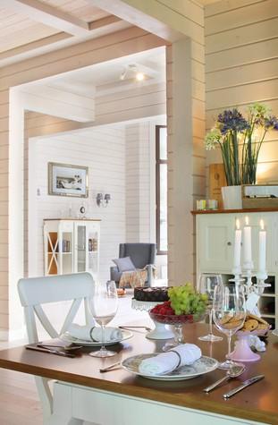 Загородный дом. столовая из проекта Дом из клееного бруса в стиле прованс, фото №80958