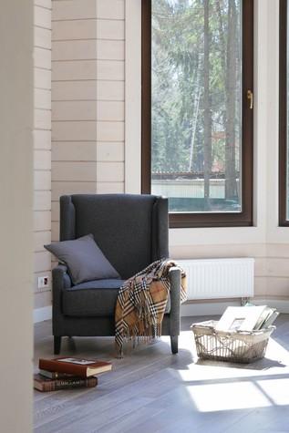 Загородный дом. столовая из проекта Дом из клееного бруса в стиле прованс, фото №80959