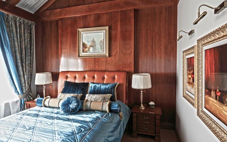 Загородный дом. спальня из проекта Дом для серьезного мужчины, фото №83036