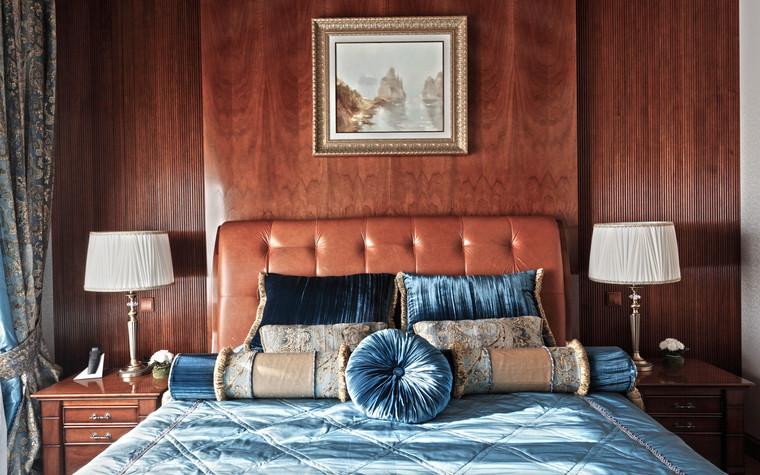 Загородный дом. спальня из проекта Дом для серьезного мужчины, фото №83037