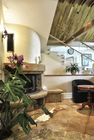 Загородный дом. гостиная из проекта Коттедж у леса, фото №83380