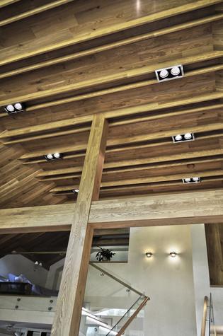 Загородный дом. гостиная из проекта Коттедж у леса, фото №83381