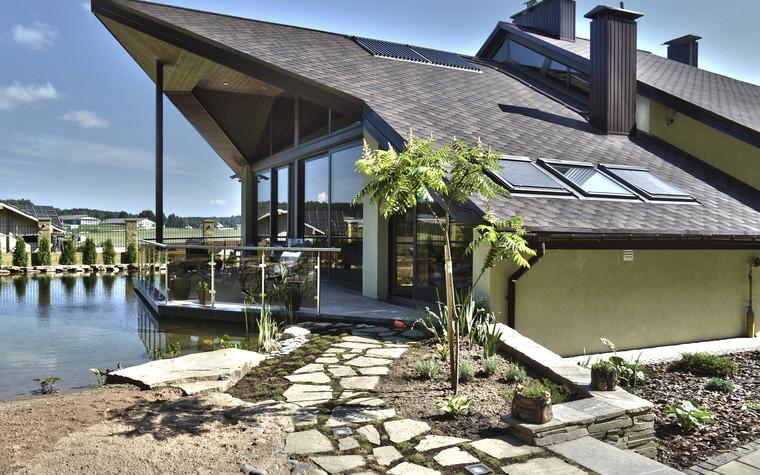 Загородный дом. фасад из проекта Коттедж у леса, фото №83411