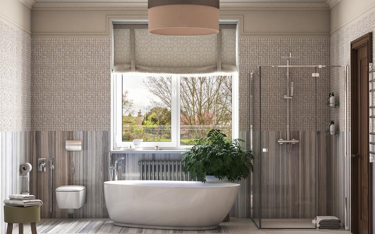 Загородный дом. ванная из проекта Интерьер ванной комнаты в загородном доме., фото №83419