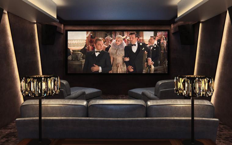 Загородный дом. домашний кинотеатр из проекта Частный кинозал с винной комнатой, дискотекой и караоке, фото №85881