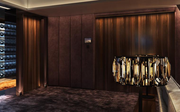 Загородный дом. домашний кинотеатр из проекта Частный кинозал с винной комнатой, дискотекой и караоке, фото №85882