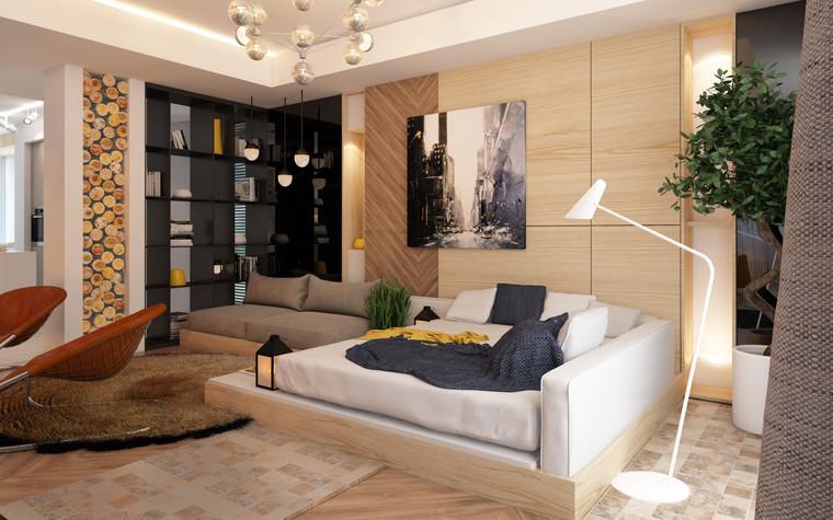 Загородный дом. гостиная из проекта Дизайн частного дома для супружеской пары, фото №89091