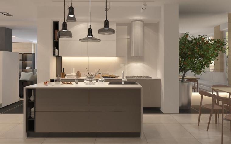 Загородный дом. кухня из проекта Дизайн частного дома для супружеской пары, фото №89094