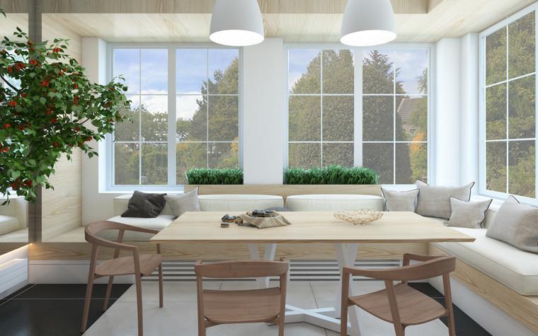 Загородный дом. кухня из проекта Дизайн частного дома для супружеской пары, фото №89096