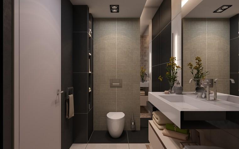 Загородный дом. ванная из проекта Дизайн частного дома для супружеской пары, фото №89109