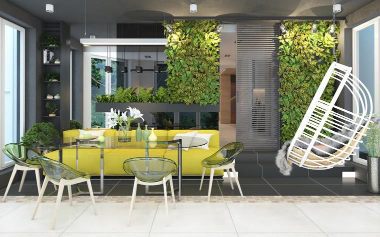 Загородный дом. терраса  из проекта Дизайн частного дома для супружеской пары, фото №89107