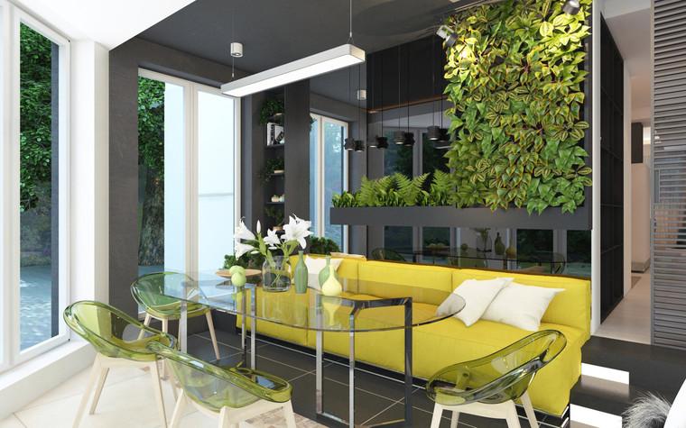 Загородный дом. терраса  из проекта Дизайн частного дома для супружеской пары, фото №89108