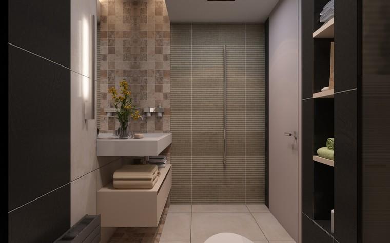 Загородный дом. ванная из проекта Дизайн частного дома для супружеской пары, фото №89110
