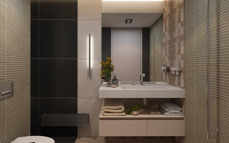 Загородный дом. ванная из проекта Дизайн частного дома для супружеской пары, фото №89111