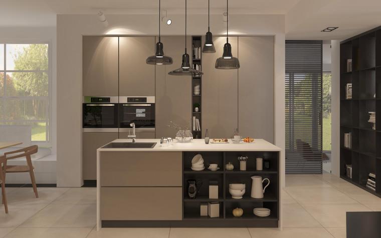 Загородный дом. кухня из проекта Дизайн частного дома для супружеской пары, фото №89092