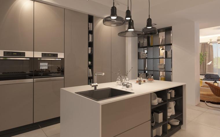 Загородный дом. кухня из проекта Дизайн частного дома для супружеской пары, фото №89093