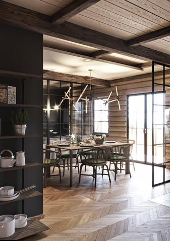 Загородный дом. кухня из проекта Уют и технологичность, фото №91906