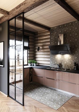 Загородный дом. кухня из проекта Уют и технологичность, фото №91907