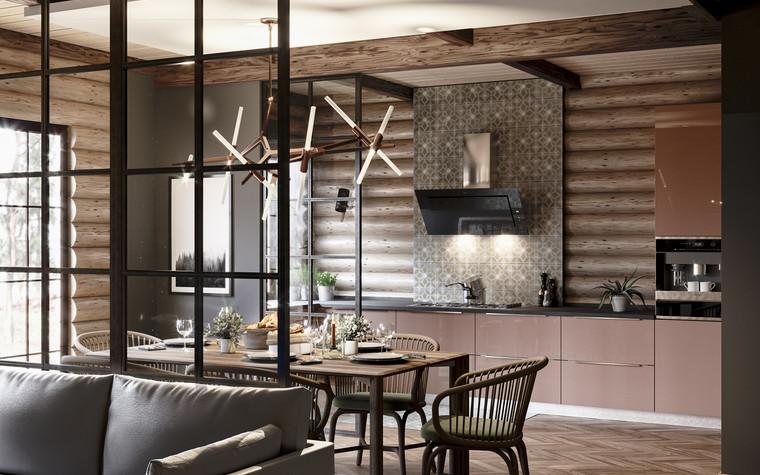 Загородный дом. кухня из проекта Уют и технологичность, фото №91909