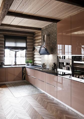 Загородный дом. кухня из проекта Уют и технологичность, фото №91911