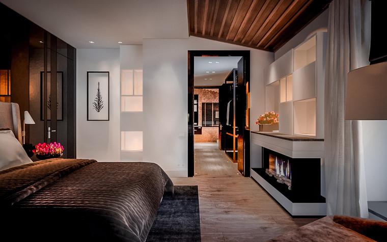 Загородный дом. спальня из проекта New Riga interior, фото №93221