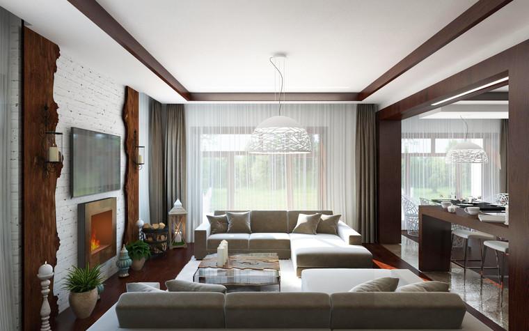 Загородный дом. гостиная из проекта Гостиная с душой, фото №94994