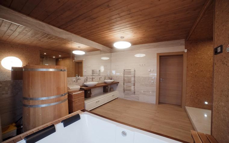 Загородный дом. ванная из проекта Экодом Танковое кольцо, фото №102973