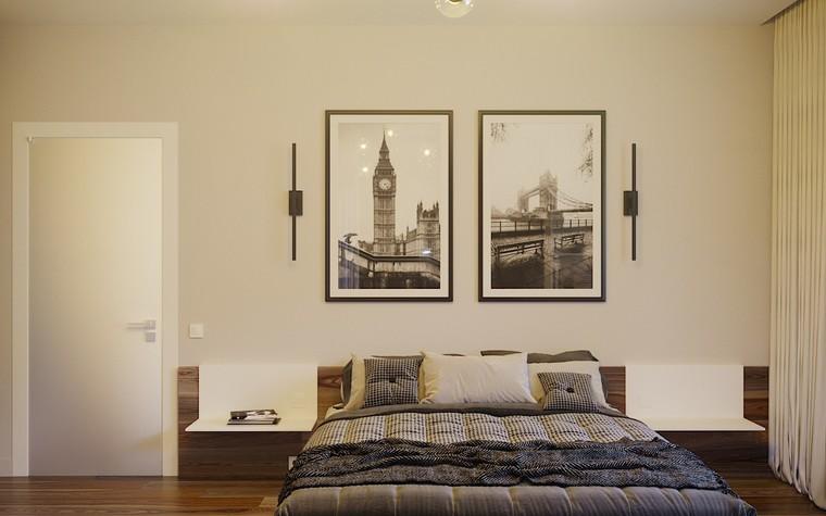 Загородный дом. спальня из проекта Загородный дом пос. Мирный, фото №103060