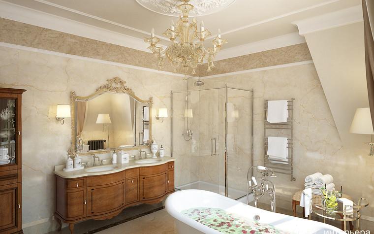 Загородный дом. ванная из проекта Интерьер дома в КП Троицкий Парк Булатниково, фото №103250