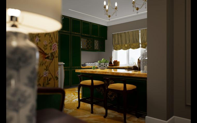 Загородный дом. гостиная из проекта Дом Шинуазри, фото №104233