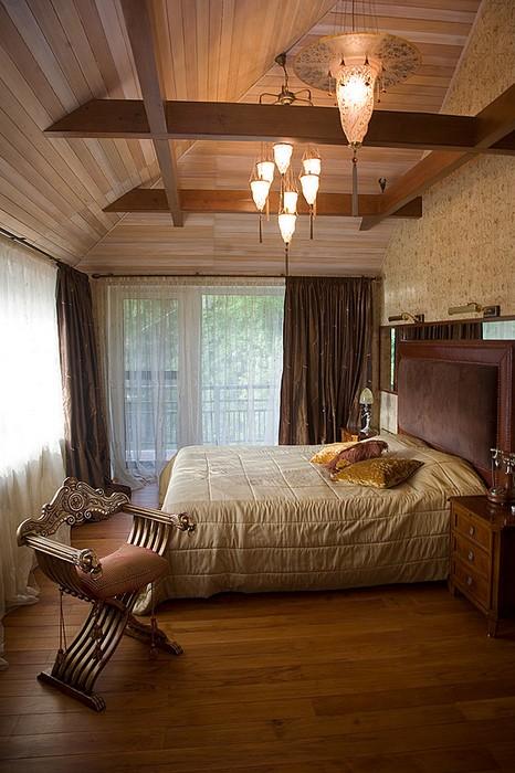 Фото № 11738 спальня  Загородный дом