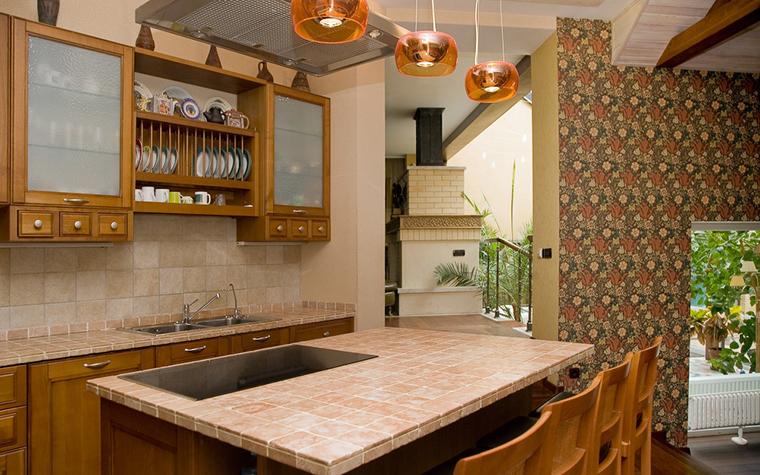 Фото № 11736 кухня  Загородный дом