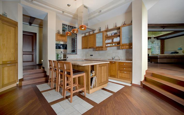 Фото № 11737 кухня  Загородный дом