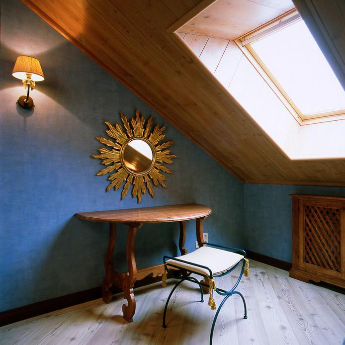 Загородный дом. спальня из проекта , фото №10938