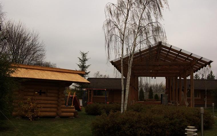 Загородный дом. детская площадка из проекта , фото №11153
