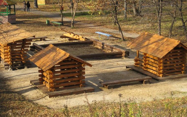 Фото № 11190 детская площадка  Загородный дом
