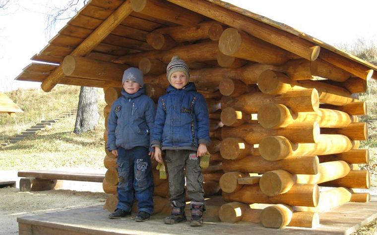 Фото № 11176 детская площадка  Загородный дом