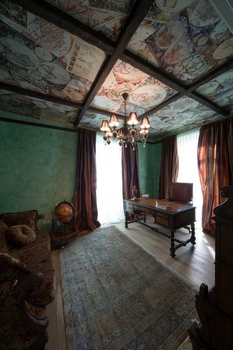 Загородный дом. кабинет из проекта , фото №11461
