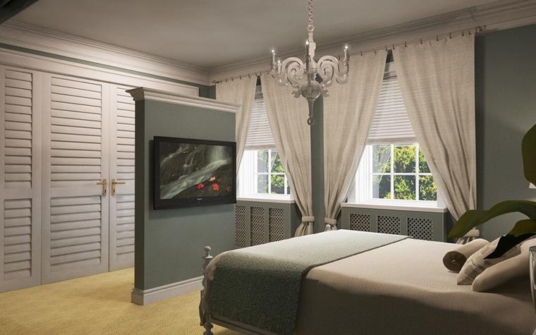 Фото № 11586 спальня  Загородный дом