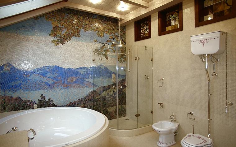 Загородный дом. ванная из проекта , фото №12313