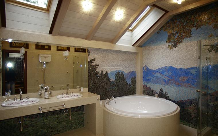 Загородный дом. ванная из проекта , фото №12314