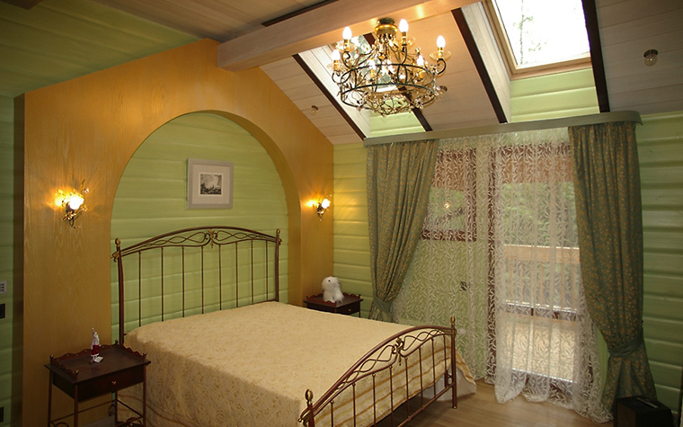 Загородный дом. спальня из проекта , фото №12316