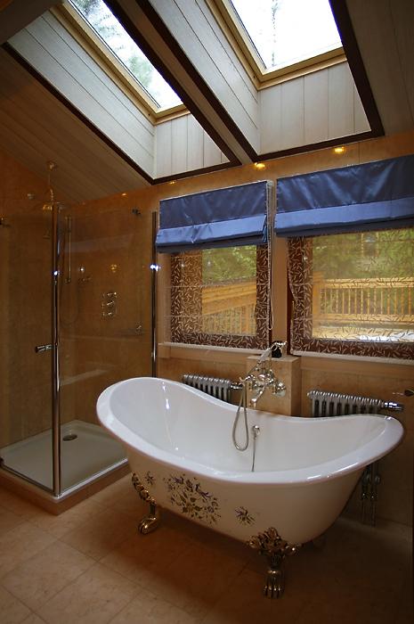 Загородный дом. ванная из проекта , фото №12318