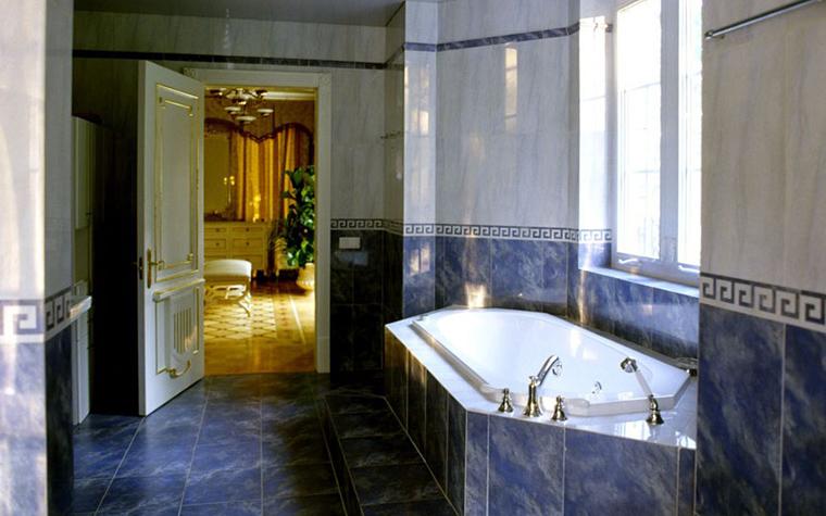 Загородный дом. ванная из проекта , фото №12495