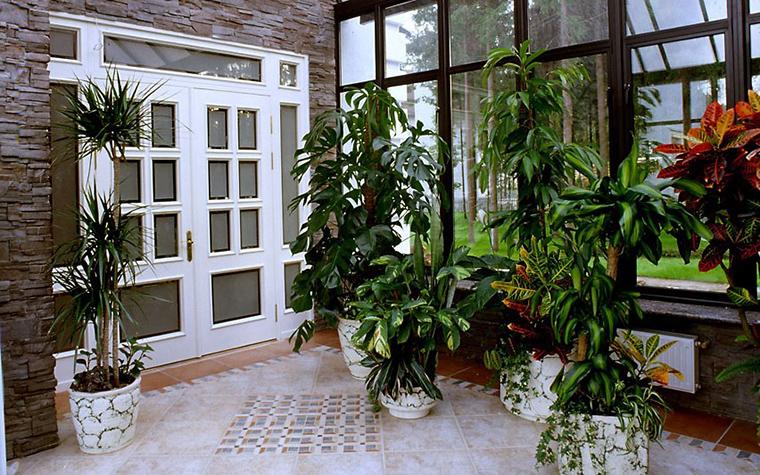 <p>Автор проекта: Оксана Лычагина</p> <p>Для зимнего сада в этом доме выстроили настоящую классическую оранжерею. Там есть все, что нужно для растений: стеклянные стены и потолок наполняют помещение светом, батареи дают тепло, керамический пол не боится влаги и удобен для уборки.&nbsp;</p>