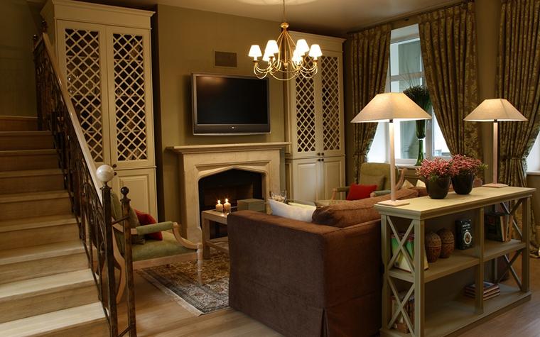 Загородный дом. гостиная из проекта , фото №12548